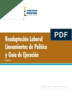Readaptación Laboral Lineamientos de Política y Guía de Ejecución