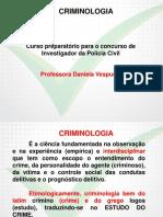 Criminologia Investigador  2014 Aula 01