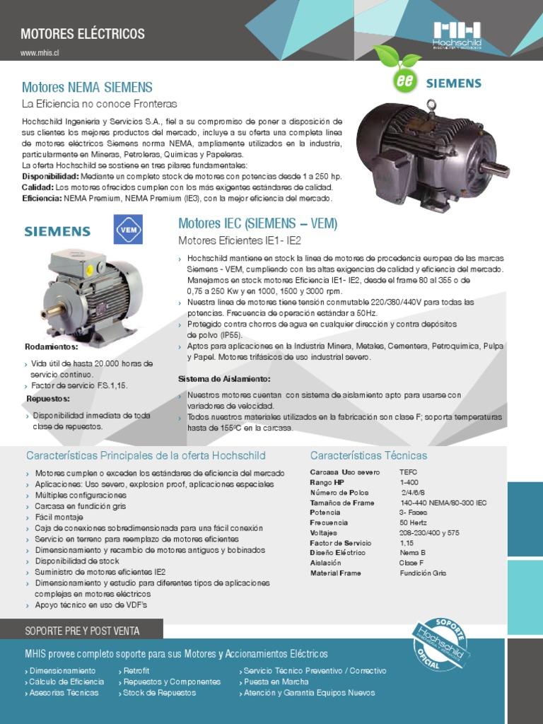 Frame De Motores Electricos Nema