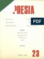 Revista Poesía #23