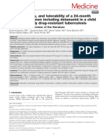 Efficacy, Safety, And Tolerability of a 24-Month Treatment Regimen Including Delamanid in a Child With Extensively Drug-resistant Tuberculosis