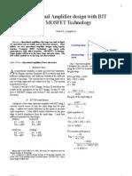 Operational Amplifier Design