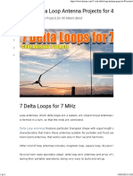 7 Cool Delta Loop Antenna Projects for 40 Meters