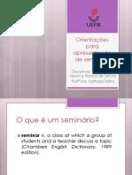 Seminar Tradução - Teoria e Prática de Leitura