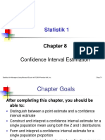 Levine Point of Estimation and Convidence Interval