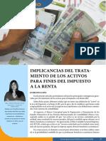 Implicancia Del Tratamiento de Los Activos Para Fines Del Impuesto a La Renta