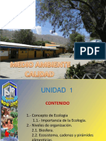 Unidad 1 Ecologia