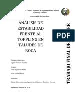 Analisis de Estabilidad en Toppling