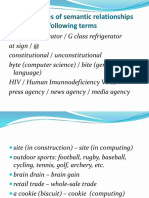 Terminology and Neology
