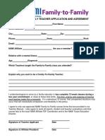 F2F Teacher Application