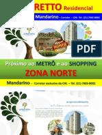ARBORETTO  - CHL- ZONA NORTE - Próximo ao METRÔ - financiamento CAIXA - Corretor MANDARINO  - tel(21) 7602-8002