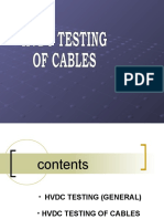 Hvdc Testing of Cables