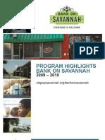 Bank on Savannah 2009-2010