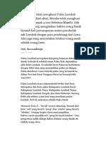 Suku Sasak Telah Menghuni Pulau Lombok Selama Berabad