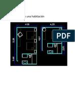 Dibujo 2D de Una Habitación