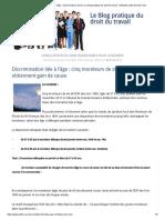 Discrimination Liée à l'Âge _ Cinq Moniteurs de Ski _ Le Blog Pratique Du Droit Du Travail - Nathalie Lailler Avocat Caen
