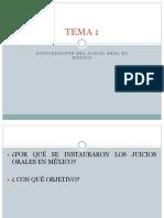 TEMA 1 Antecedentes Juicio Oral en México