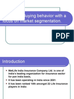 Customer-Buying Behavior With a Focus on Market Segmentation