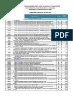 Catálogo 2017 1er Sem Infraestructura