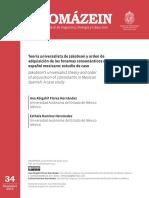 Teoría universalista de Jakobson y orden de adquisición de los fonemas consonánticos del español mexicano