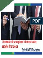 01 ISA 700 Opinion e Informe Audit