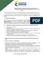 11438 Lineamiento Generales Para La Presentación de Propuestas de Infraestructura Abril 2015