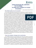 22-Quitian-LOS ESTUDIOS SOCIALES DEL DEPORTE en COLOMBIA Tensiones en Juego Para Configurar Un Campo de Estudios