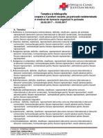 Tematica Examen Asistent de Farmacie 2017 Corectat