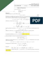 Corrección Primer Parcial de Cálculo III, jueves 19 de abril  de 2018