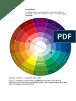 Combinatii de Culori.cercul Culorilor