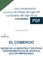 Empresas y Empresarios en La Historia de Colombia