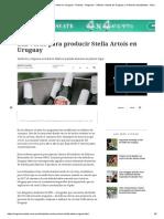 Luz Verde Para Producir Stella Artois en Uruguay