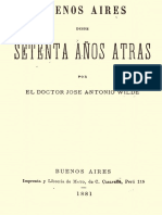 Wilde, José Antonio - Buenos Aires Desde Setenta Años Atrás