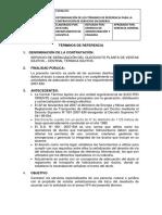 TDR Servicio de Señalizacion Del Ducto Electroriente