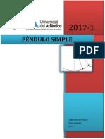 Informe Péndulo Simple