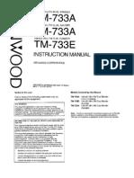 Kenwood TM-733A E Instruction Manual