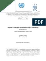 Panorama de La Migracion Internacional en Mexico y Centroamerica