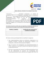 Carta de Presentacion del Proyecto de Investigación 2018.doc