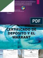 Certificado de Depósito y El Warrant