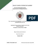 El Gallego Exterior a Las Fronteras Administrativas