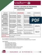Calendario Académico Estudiantil 01-18
