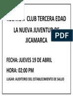 Reunión Club Tercera Edad