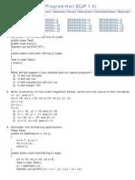 Java mock tests for SCJP
