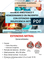 Anestesiologia Estenosis e Insuficiencia Mitral