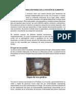 Utilización de Energia Sostenible en La Cocción de Alimentos