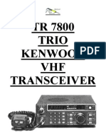 Kenwood TR-7800 Instructions Manual