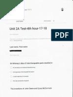 unit 2a test