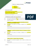 Modelo Check List - Mudanza