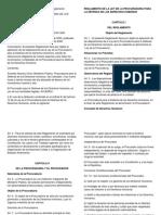 Reglamento de La Ley de La Procuraduria Para La Defensa de Los Derechos Humanos