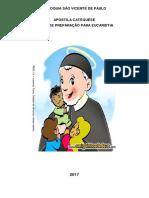 Apostila de Catequese - 1 Ano de Preparação Para Eucaristia - Paróquia São Vicente